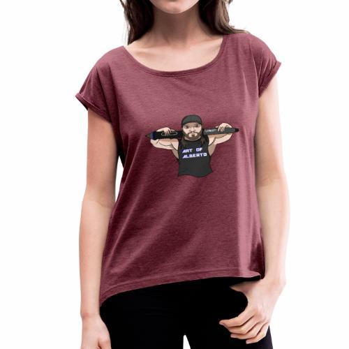 Art of Alberto Logo - Women's Roll Cuff T-Shirt