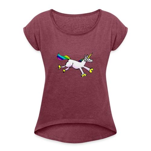 Unicorn Dance Party - Women's Roll Cuff T-Shirt