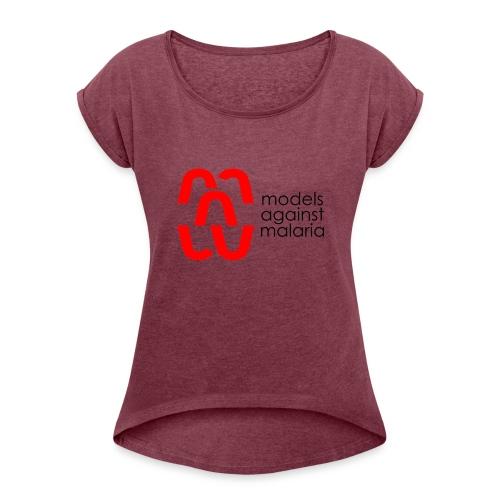 mam LOGO2 - Women's Roll Cuff T-Shirt