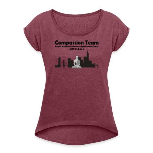 CompassionTeam2018 - Women's Roll Cuff T-Shirt