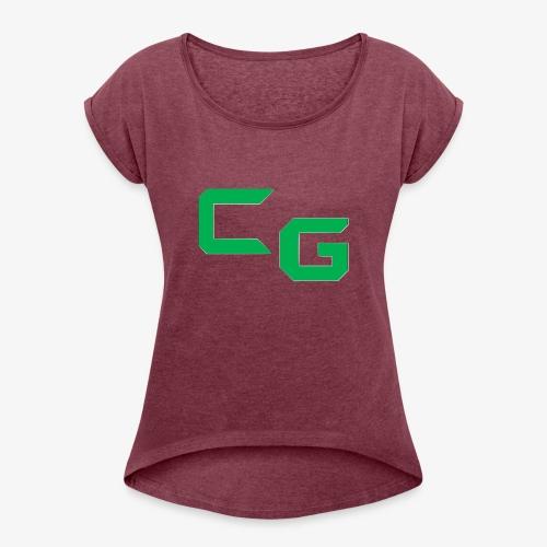 certifiedatol gaming logo - Women's Roll Cuff T-Shirt