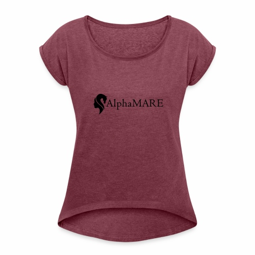 alphaMARE emblem left - Women's Roll Cuff T-Shirt