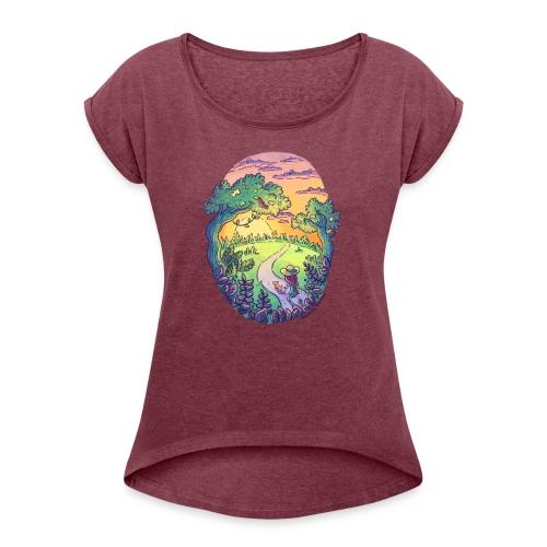 Rainbow Walk - Women's Roll Cuff T-Shirt