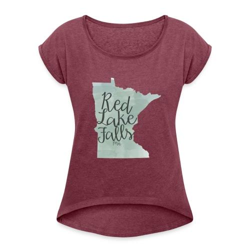 Red Lake Falls Long Sleeve Shirt - Women's Roll Cuff T-Shirt
