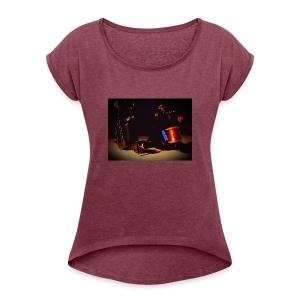 self taken picture - Women's Roll Cuff T-Shirt