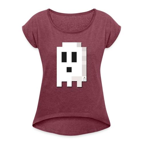 BC Ghost Boo T Shirt - Women's Roll Cuff T-Shirt