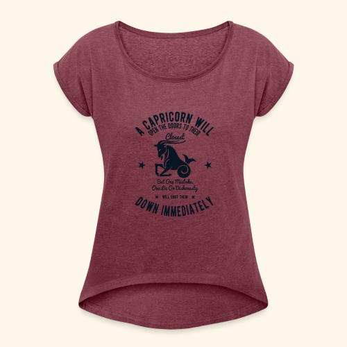 Capricorn - Women's Roll Cuff T-Shirt