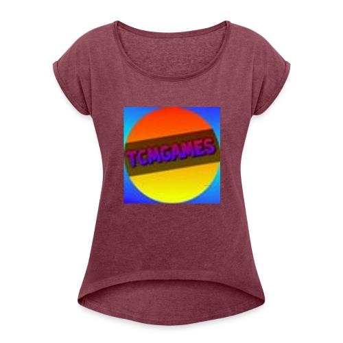 TCMGames NEW MERCH! - Women's Roll Cuff T-Shirt