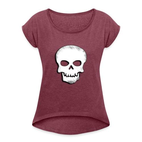 Skull Zone Logo - Women's Roll Cuff T-Shirt