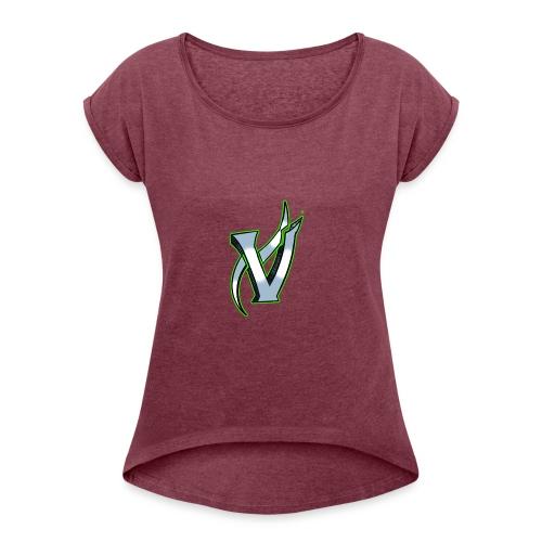 Vix V Symbol Altered - Women's Roll Cuff T-Shirt