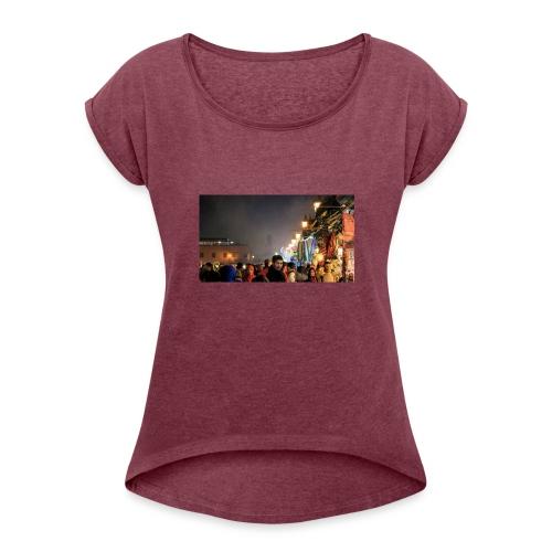 Marrakech at Night - Women's Roll Cuff T-Shirt