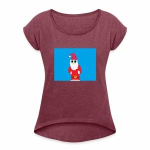 Santa Zachary - Women's Roll Cuff T-Shirt