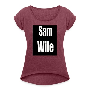 samlogo - Women's Roll Cuff T-Shirt