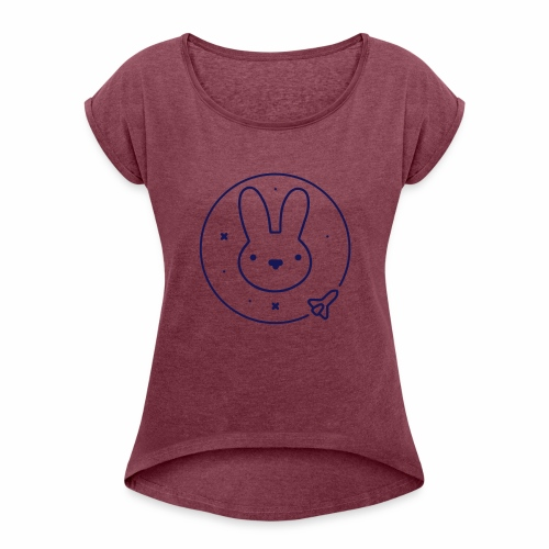 Space Bunny - To Venus And Beyond - Women's Roll Cuff T-Shirt