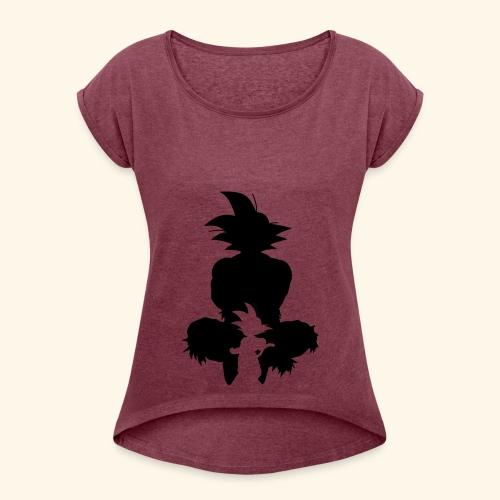 gokuShirt - Women's Roll Cuff T-Shirt