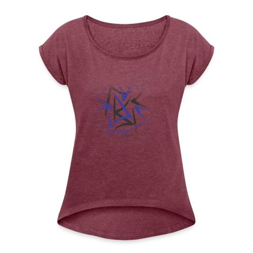 designcrowd t shirt back2 printready 300dpi - Women's Roll Cuff T-Shirt