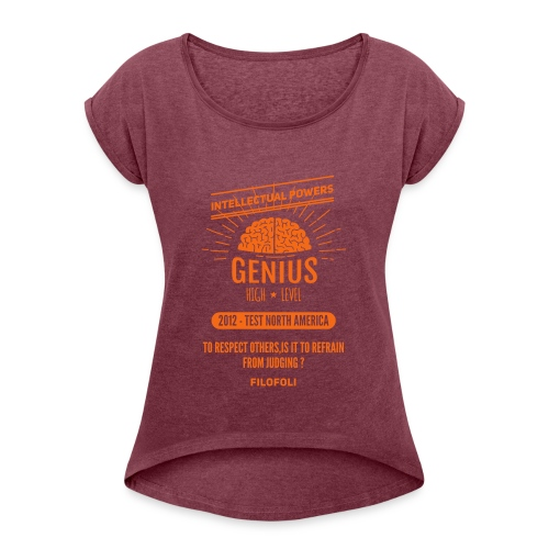 212 TEST NORTH AMERICA - Women's Roll Cuff T-Shirt