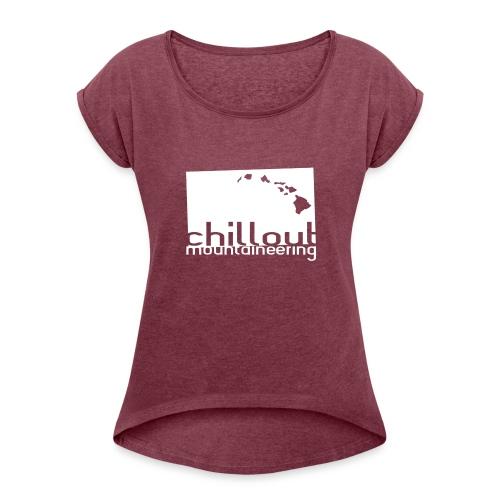 CMT Style - Hawaii - Basic - WHITE - Women's Roll Cuff T-Shirt