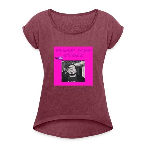 Women's Shirt on Old Lucky Street - Women's Roll Cuff T-Shirt