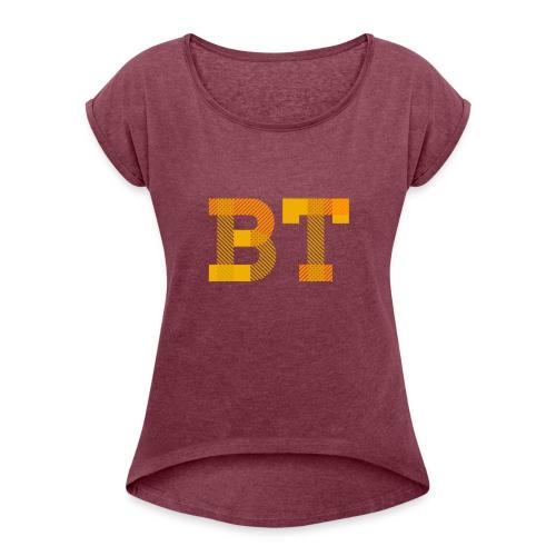 BeakerTeck Logo - Women's Roll Cuff T-Shirt