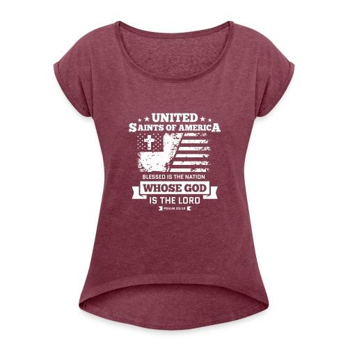 UnitedSaintsOfAmerica DesignHD 1 - Women's Roll Cuff T-Shirt