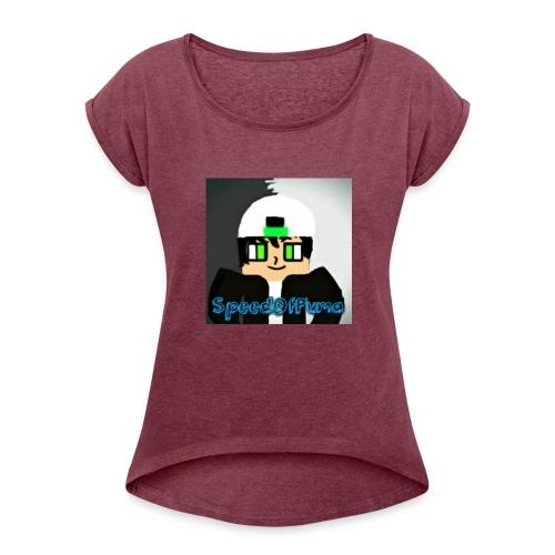 SpeedofPuma - Women's Roll Cuff T-Shirt