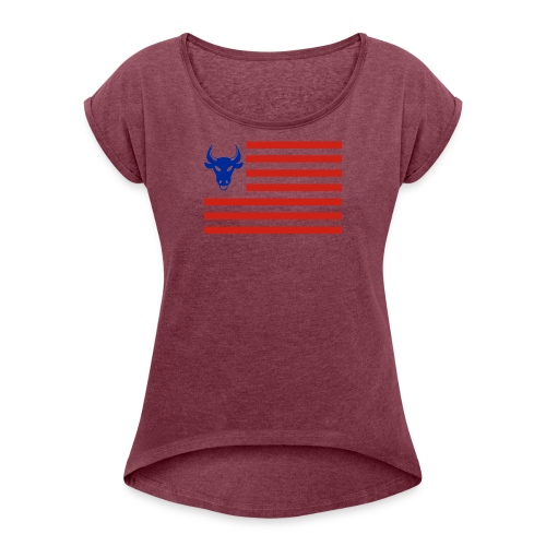 PivotBoss Flag - Women's Roll Cuff T-Shirt