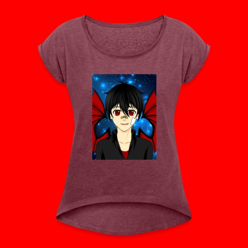 vampire boy kryotic - Women's Roll Cuff T-Shirt
