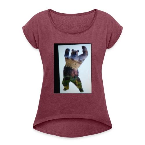 Lucky bear - Women's Roll Cuff T-Shirt