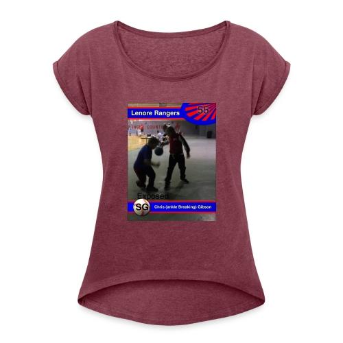 Basketball merch - Women's Roll Cuff T-Shirt