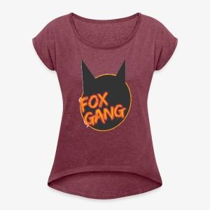 The fox gang official - Women's Roll Cuff T-Shirt