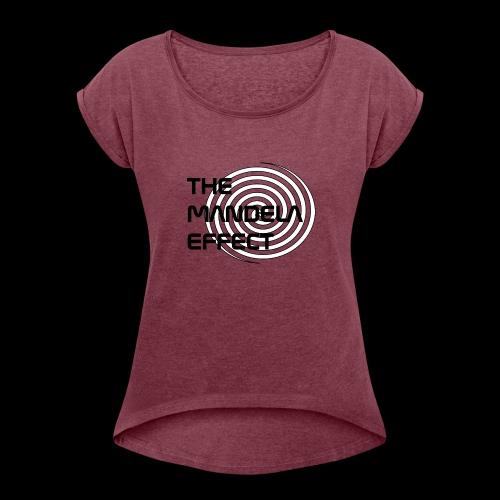 The Mandela Effect Spiral - Women's Roll Cuff T-Shirt