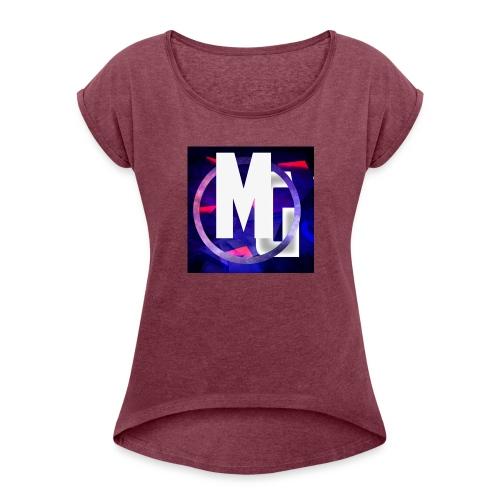 MoneyGamer Logo - Women's Roll Cuff T-Shirt