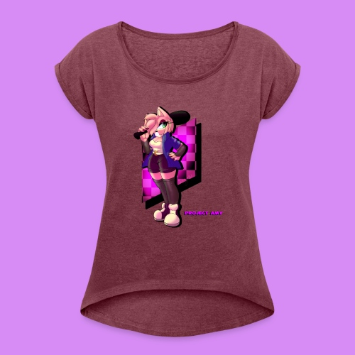 Project Amy : Chilled - Women's Roll Cuff T-Shirt
