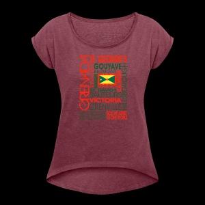 OC Grenada - Women's Roll Cuff T-Shirt