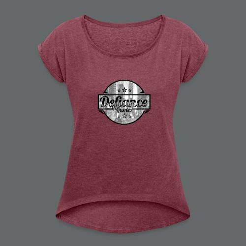Defiance Games Street Logo Shirt - Women's Roll Cuff T-Shirt