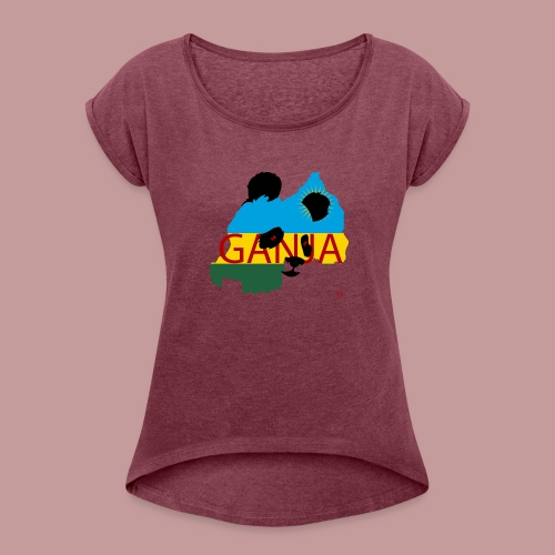 ganja95_ - Women's Roll Cuff T-Shirt