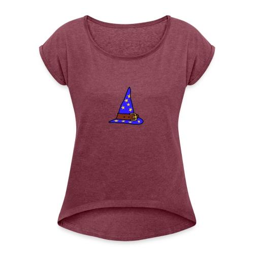 wizard_hat - Women's Roll Cuff T-Shirt
