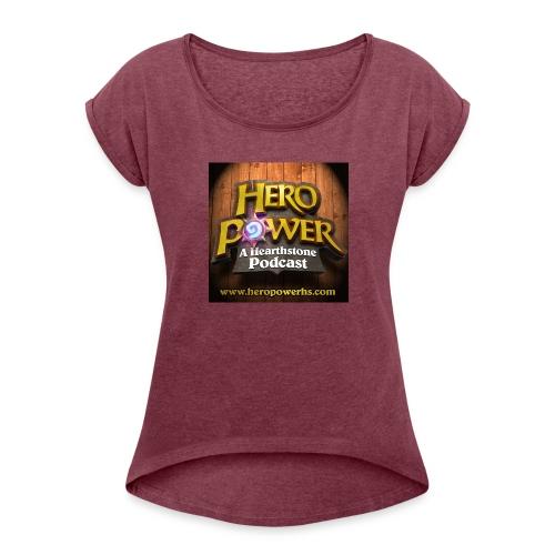 Hero Power iTunes Cover - Women's Roll Cuff T-Shirt