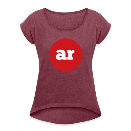 OAR LOGO 2 - Women's Roll Cuff T-Shirt