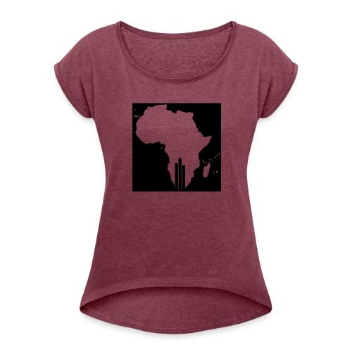 Tswa_Daar_Logo_Design - Women's Roll Cuff T-Shirt