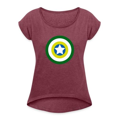 Capitão America Brasil - Women's Roll Cuff T-Shirt