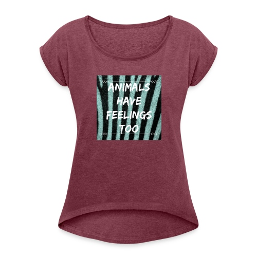ANIMALS - Women's Roll Cuff T-Shirt
