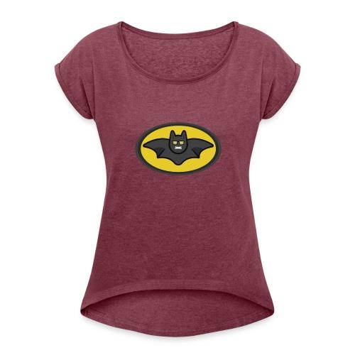 IAMBATMAN BEAM CHANNEL LOGO - Women's Roll Cuff T-Shirt