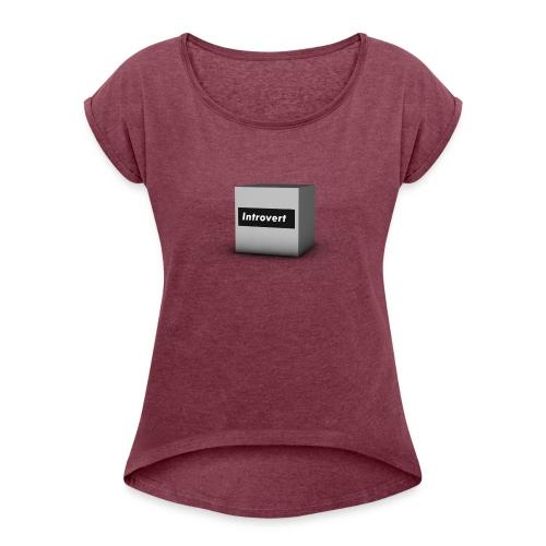 Box Logo - Women's Roll Cuff T-Shirt