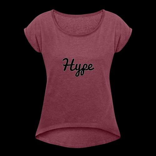 Hype Logo - Women's Roll Cuff T-Shirt