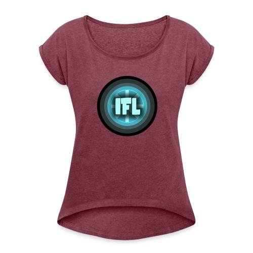 Logo Looper - Women's Roll Cuff T-Shirt