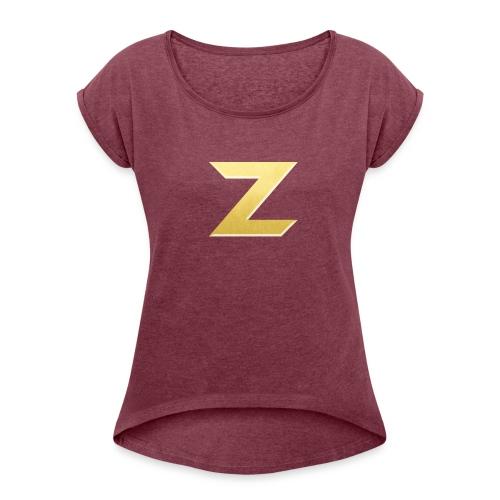 Zonary Alliance Gold logo Shirt - Women's Roll Cuff T-Shirt