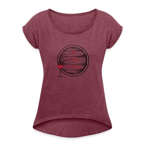 CD_black - Women's Roll Cuff T-Shirt