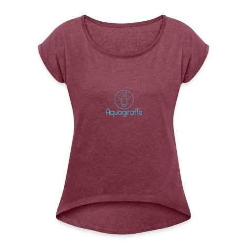 Aquagiraffe - Women's Roll Cuff T-Shirt